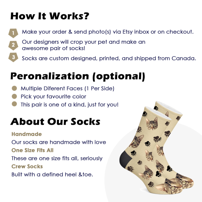 Personalized Cat Socks - 1