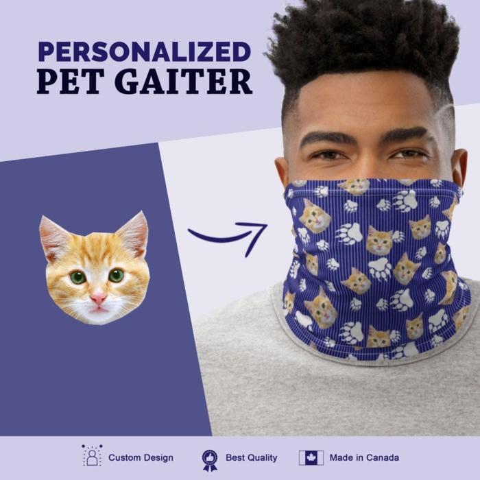 Custom Cat Gaiter with Stripes
