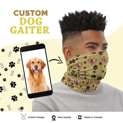 Custom Dog Gaiter with Stripes