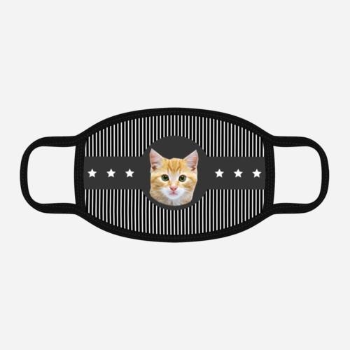 Custom Cat Mask - American Cat Black