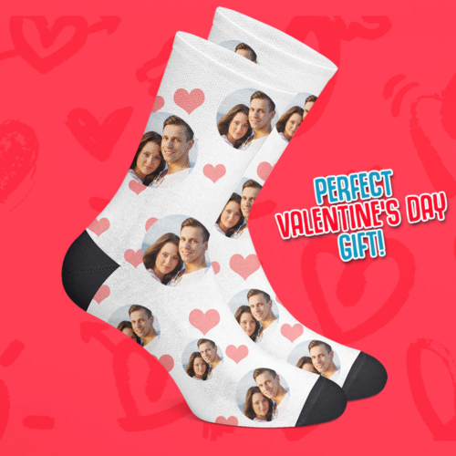 Custom Face Socks Valentines Day